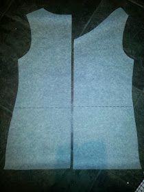 Tiinan tekemää: Fba eli kaavan muokkausta isorintaiselle Tank Man, Sewing, Mens Tops, Patterns, Projects, Block Prints, Log Projects, Dressmaking, Blue Prints