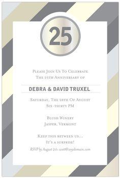 Wedding anniversary invitations  25th 50th  I by razzadesigns, $15.00
