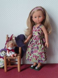 robe_crois_e_devant_008 Marie Claire, Doll Clothes, Summer Dresses, Dolls, Baby, Fashion, Sew, Baby Dolls, Moda