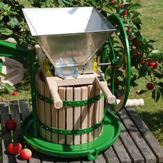 Family apple press (put in basement cold storage when not in use)