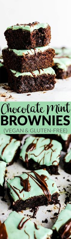 These Chocolate Mint Brownies are dense, chocolate-y & full of fresh mint flavor.