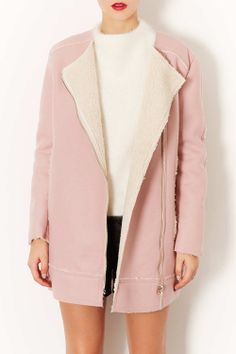 pink wool lined coat {in love with this}