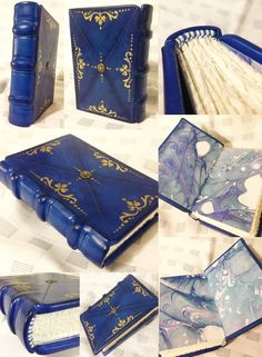 This is Little Indigo. A watercolor journal with deckled edge pages for the text block.Deep indigo Italian goats leather with gold leaf and hand painted. Little Indigo Journal Covers, Book Journal, Maquillage Phosphorescent, Watercolor Journal, Handmade Books, Handmade Journals, Handmade Rugs, Handmade Crafts, Magic Book