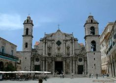 "Cuban Church | Havana Cathedral, part of the old Havana City and what is known is Spanish as ""El Casco Historico""."