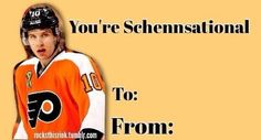 Flyers Hockey, Hockey Games, Hockey Players, Meme Valentines Cards, Wild Hockey, Fly Guy, Philadelphia Flyers, World Of Sports, No One Loves Me