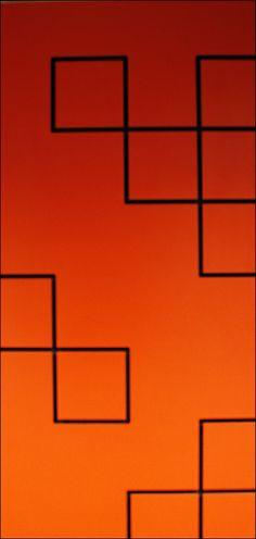 Slatwall Pattern Color Vignette – Fixtures Close Up Slat Wall, Retail Design, Orange, Yellow, Vignettes, Red, Patterns, Color, Block Prints