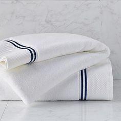 Resort Embroidered Stripe Bath Towel