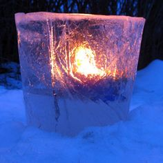 How To Make An Ice Lantern. Use distilled water to keep the ice clear.