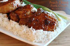 Melissa's Southern Style Kitchen: Peach Glazed Pork Chops