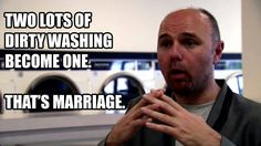 Karl Pilkington's metaphor for marriage. Brilliance.