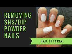 SNS or Dip Powder Removal | At Home Nails | jiannajay - YouTube