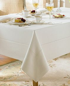"Waterford Table Linens, Addison 70"" x 162\"" Tablecloth"