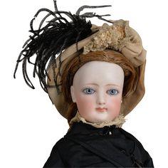 #Rubylane www.rubylane.com #vintage #vintagebeginshere Desirable  Kid over Wood Body French Fashion Poupee - 15 Inch