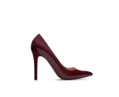 ZARA - TRF - POINTED FAUX PATENT LEATHER COURT SHOE