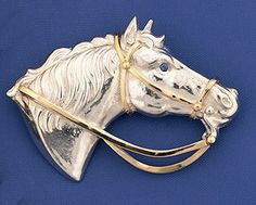 Two-tone horse pin or pendant! Looks great as an enhancer on an omega neckpiece!