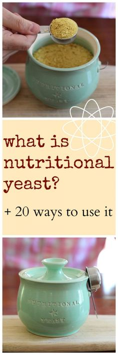 is nutritional yeast? Plus, 25 ways to use it! What is nutritional yeast? Plus, 20 ways to use it! All of the recipes are vegan & completely delicious. Plant Based Eating, Plant Based Diet, Plant Based Recipes, Marinade Tofu, Whole Food Recipes, Cooking Recipes, Nutritional Yeast Recipes, Vegetarian Recipes, Healthy Recipes