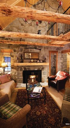 Using reclaimed wood for beams is a great way to add rustic feel and be environmentally friendly.
