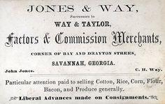 Vintage business card... factors and commission merchants...