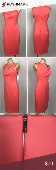 Calvin Klein Sheath Scuba Dress with Shoulder Tie -Bundle Deal For My Closet: 2+ Items for 10% off💕 -Make me an offer UNLESS listing states the price is firm😊😊 -Measurements provided if asked for them Calvin Klein Dresses
