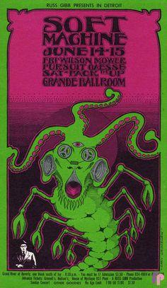 Soft Machine at Grande Ballroom 6/14-16/68 by Gary Grimshaw