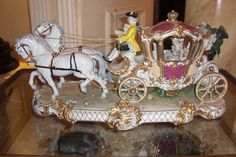 CHARIOT A German Meissen Figural Group of Marirage Carriage. Circa 1880
