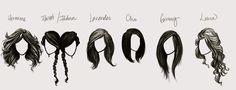 How great is this? I love this artist's interpretation of all the different HP girls' hair. So cute. :)