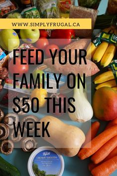 Yes, it can be done, and you don't have to coupon! Check out these practical tips on how to feed your family on $50 a week! #grocerytips #cheapeats Cheap Meal Plans, Cheap Meals, Cheap Food, Frugal Tips, Frugal Meals, Frugal Recipes, Best Money Saving Tips, Saving Money, Healthy Fridge