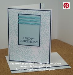 Masculine birthday card using the Sheltering Tree and Guy Greetings Stamp Sets from Stampin' Up!  http://tracyelsom.stampinup.net