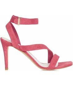 c4b7a2c45642  Pink asymmetric strap sandal