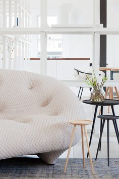Ligne Roset04 Hecker Guthrie, Ligne Roset, Patio Design, Bean Bag Chair, Small Spaces, Furniture Design, Sofa, Projects, Neutral