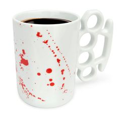 My design inspiration: Knuckle Duster MUG! Blood Splats on Fab.