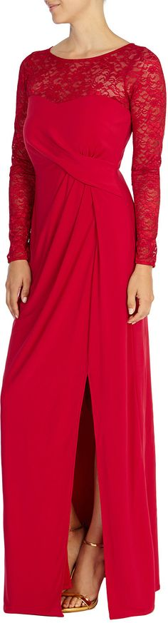 Womens cherry maxi dress from Coast - £109 at ClothingByColour.com Lace Maxi, Cherry, Coast, Clothes, Dresses, Women, Fashion, Outfits, Vestidos