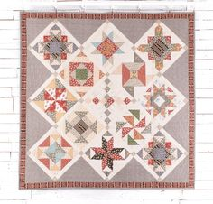 Andover Little House On The Prairie Fabric & Ma And Pa Pattern Quilt Kit - White