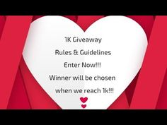 1K Giveaway Rules & Guidelines... Enter Now!!! - YouTube