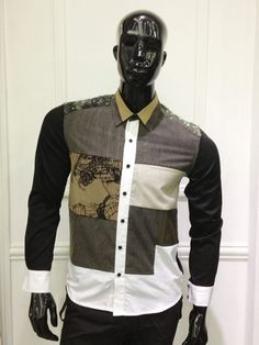Long sleeves patchwork shirt by Isis