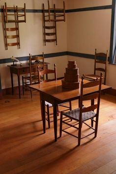 shaker table and chairs....