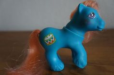 1987 G1 My Little Pony MLP Playtime Baby Brother Drummer Blue Coral Drum | eBay