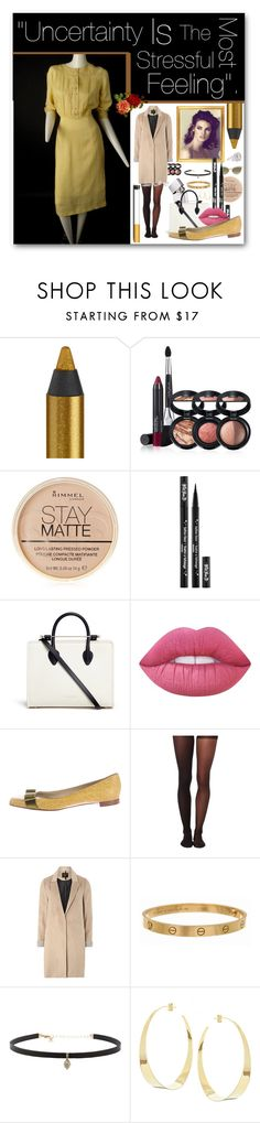 """Leaving Hospital/Route Amusement Park - Valentina 1945."" by rebeccaelizabethmattox ❤ liked on Polyvore featuring Urban Decay, Laura Geller, Rimmel, Kat Von D, Lime Crime, Giuseppe Zanotti, Wolford, mel, Cartier and Carbon & Hyde"