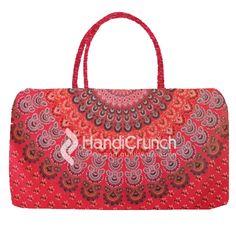 Elegant Red color Mandala Print Travel Bag Travel Handbags, Travel Bags, Mandala Print, Online Bags, Handicraft, Red Color, Elegant, Stylish, Stuff To Buy