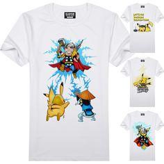 Pokemon Ir Camiseta de La Moda de Nueva Diseño Pikachu Anime Blanco Divertido Fresco de La Camiseta de Manga Corta Impresa Camiseta de Los Hombres de la Camiseta Unisex
