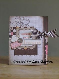 I love this Mini Album featuring the You and Me scrapbooking papaers