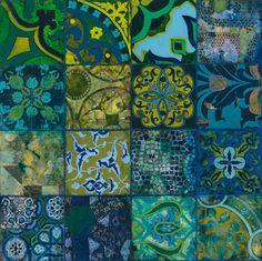 Cobalt Mosaic I Art Print by John Douglas Easyart.com