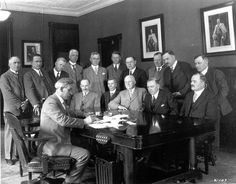 Source: Photo Time: May 19th, 1928. This is a photo of the Prime Minister signing the Agreement for Old Age Pension. This was a big change in social support for people in Canada, and allowed British subjects to get paid in their old age.
