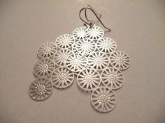 The Audrey Silver Earrings by Eleganceforyou on Etsy, $15.00
