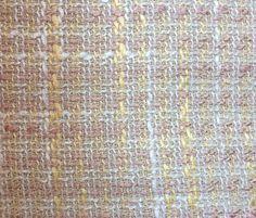 """Tissu épais style """"Haute couture"""" rose et jaune, parfait pour les tailleurs, robes, tuniques et pantalons"""