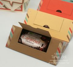 Stampin' Up! Stamping T! - Washi Tape Folded Triangle Gift Box Retro Fresh CU