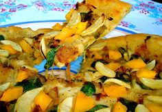 Roasted Apple, Butternut Squash, and Caramelized Onion Pizza