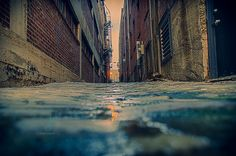 Alley Bye A low perspective shot of an alley in downtown Memphis