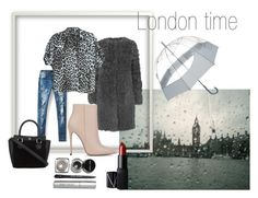 """#london#Monday"" by slounis on Polyvore featuring moda, L.K.Bennett, rag & bone, Akira Black Label, Hunter, NARS Cosmetics i Bobbi Brown Cosmetics"