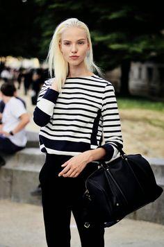 Sasha Luss street style model off duty
